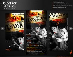 Grave Yard-Back Party Flyer by Gallistero