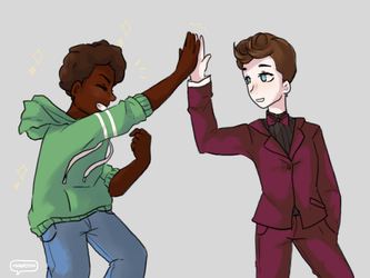 High Five - Art by MakotoTea by ComicFanJ