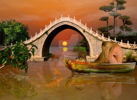 The bridge and the River by ladyjudina