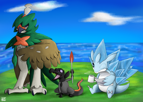 Alola Team (So Far) by Zerrazoid