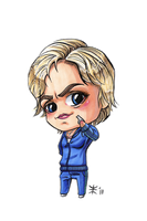Chibi Sue Sylvester Commission by AnimeGirlMika