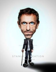 Hugh Laurie Caricature by Stanley-ontheroad