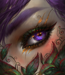 Elven eye + video process by DenaHelmi