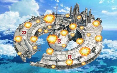 Pokemon Quest: Team Rocket's Control Ship Explodes by WillDynamo55