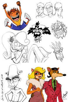 Crash Bandicoot - Sketch Dump by JenL