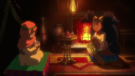 [GIF] Iris Keeping Warm by the Fire by Nintendorkly