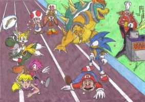 Sonic at the Olympics Games by 2PlayerWins