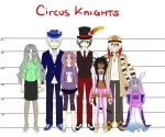 Circus Knights Characters by nightmaresky