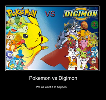 Pokemon vs Digimon by Sashova