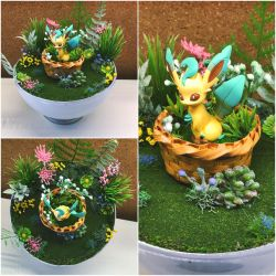 PBT Collage - Basket Leafeon Forest by TheVintageRealm