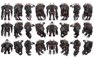 Mass Effect 3, Armoured Brute Reference. by Troodon80