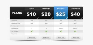Pricing Table PSD by webdesignerbag