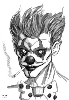 Not so happy clown by DarkMatteria