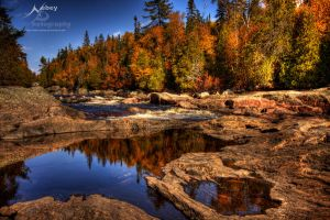 HDR Autumn Calm River by Nebey