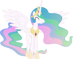 Grinning Princess Celestia (1) by 90Sigma