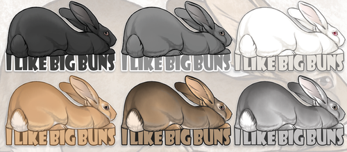 I Like Big Buns (Stickers!) by Nyctra