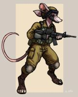 Jacob - IDF Mouse Soldier 01 by TheLivingShadow