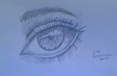 Realistic Eye - Practice by TheIceQueenYukiOnna