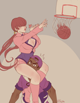 P - Shermie's Lucky Dunk by Kaibuzetta