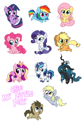 Chibi My Little Pony by StePandy