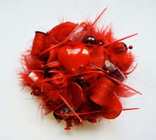 Thorned Heart brooch by RibbonsandClay
