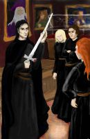 Protecting Hogwarts Students by greeneyes-17