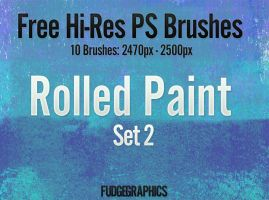 Rolled Paint PS Brush Set 2 by fudgegraphics
