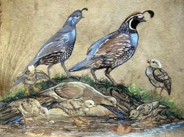 The Covey of Quail by HouseofChabrier