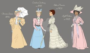 Detail of Timeline of Spring Fashion: 1894-1908 by a-little-bit-lexical