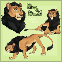 King Ahadi by yelnatsdraws