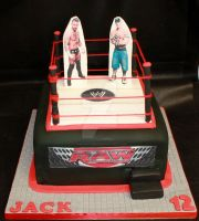 Wresting Ring Cake by cakesbylorna