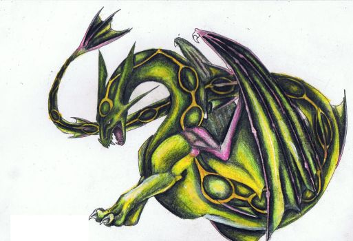 Rayquaza by SilvaDragoness