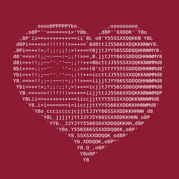 ASCII heART by Omorashi
