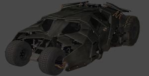 XNALARA - BATMAN ARKHAM KNIGHT - BATMOBILE TUMBLER by CapLagRobin