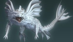 DeepSea white dragon - another by AkaiGaru
