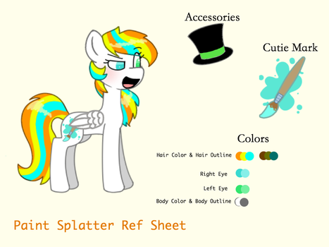 Paint Splatter Reference Sheet by DaniGummyBear