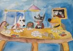 Pixar Dogs playing poker by thearist2013