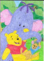 Pooh, Roo and Lumpy by Krisztian1989