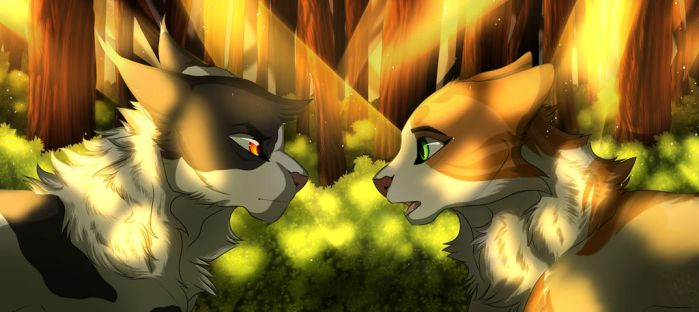 Swiftpaw And Brightpaw by Goldenwing67