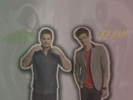 Barry Allen and Oliver Queen by BloodyLullaby95