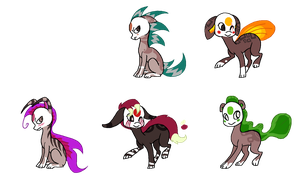 Finnedyr Adopts (4) -CLOSED- by HitMeWithBrokenLeave