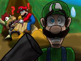 Super Mario Insanity: A Shadow Figure by AtomicNeon