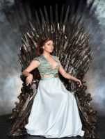Margaery Tyrell sits on the iron throne by Kapalaka
