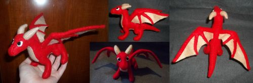 Red Dragon Plushie by rboy42