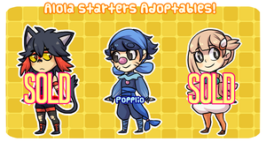 Alola- Starters adoptables  CLOSED by ClawCraps