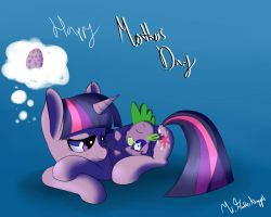 Mama Twily and her widdle Spike by A8F12Official