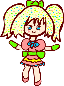 Kawaii Rainbow Pastel Sprinkles Chibi by Faery-Rainbow
