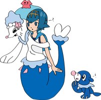 Lana Into Primarina with Sem 1 by TheSuitKeeper89
