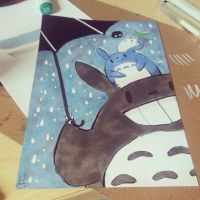 Totoro Art Card! by ditto9