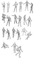 Human Mannequin Sketches by Daowg